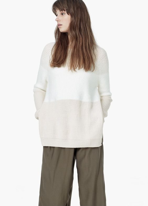 Pullover im Strick-Mix