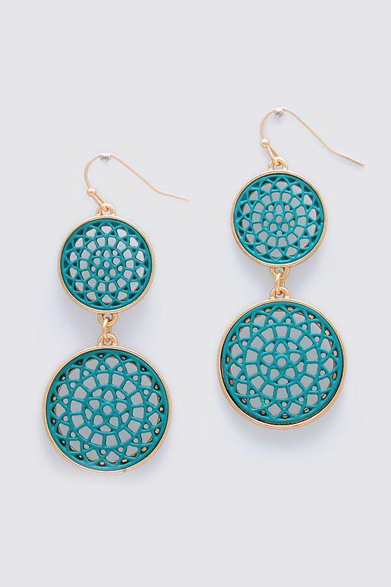 Bella Earrings in Blue Teal
