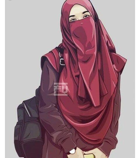 Alizay Hijab Cartoon Islamic Cartoon Anime Muslimah Cartoon hijab woman wallpaper