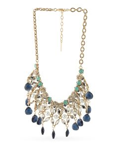 image of Crystal Stone Frontal Necklace