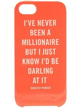 Kate Spade New York Millionaire Quote iPhone 5 Case | Piperlime