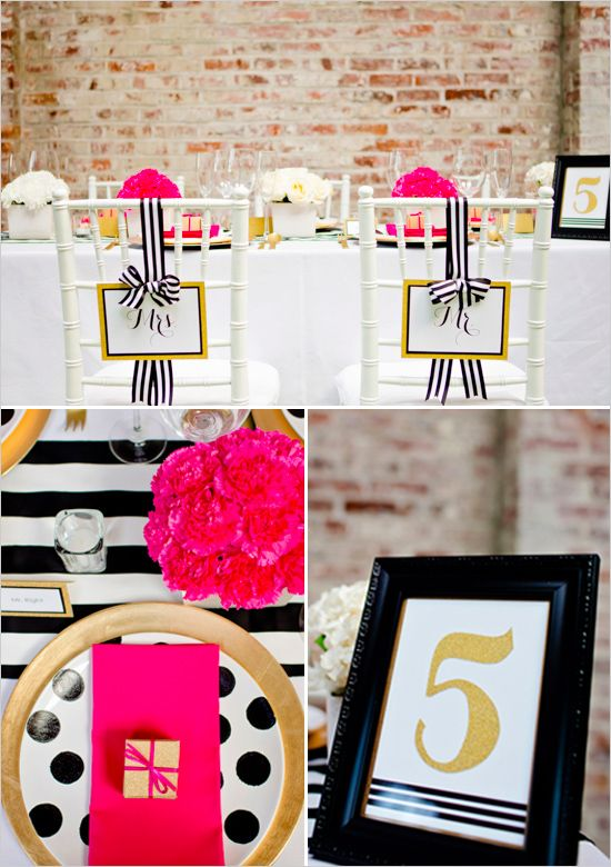 black and gold wedding ideas #blackandgoldwedding #modernwedding #weddingchicks http://www.weddingchicks.com/2013/12/31/black-and-gold-wedding-ideas/