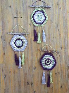 Atrapa sueños Decoración con crochet