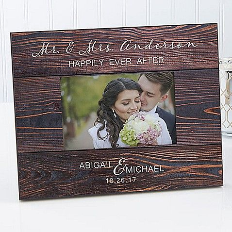 Rustic Elegance Wedding 4 Inch X 6 Inch Picture Frame Wedding Picture Frames Personalized Wedding Picture Frame Personalized Picture Frames