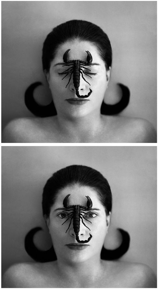 """Marina Abramović, Serbo-Croatian, born November 30, 1946 in Belgrade, Serbia) is a New York-based Serbian performance artist who began her career in the early 1970s. Active for over three decades, she has recently begun to describe herself as the """"grandmother of performance art."""" Abramović's work explores the relationship between performer and audience, the limits of the body, and the possibilities of the mind"""