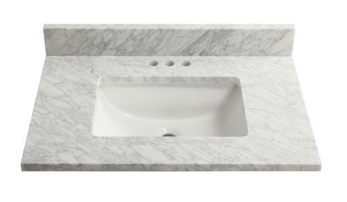31 X 22 Carrara Marble Vanity Top