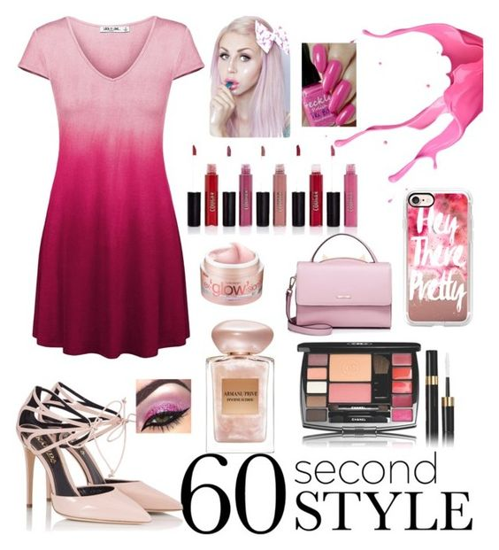 """Pink Ombre"" by sweetascandy5530 ❤ liked on Polyvore featuring Fratelli Karida, Bliss, Giorgio Armani, Boohoo, Casetify, WithChic, ombre and 60secondstyle"