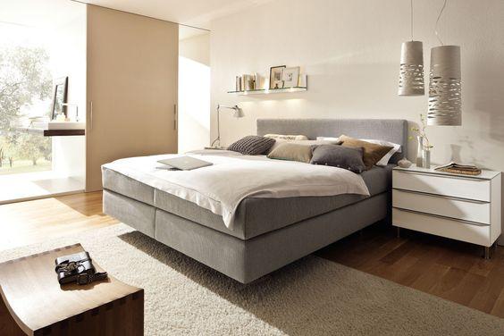 Das Boxspring-Wasserbett mit Nizza XL Classic Kopfteil macht auch - schlafzimmer von hülsta