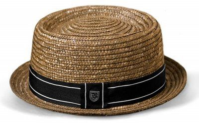 straw pork-pie hat
