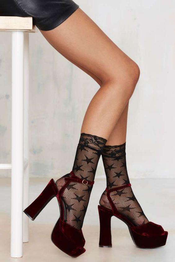 Look From London Walk of Fame Sheer Socks