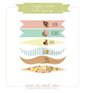 spring & easter cupcake flag printables