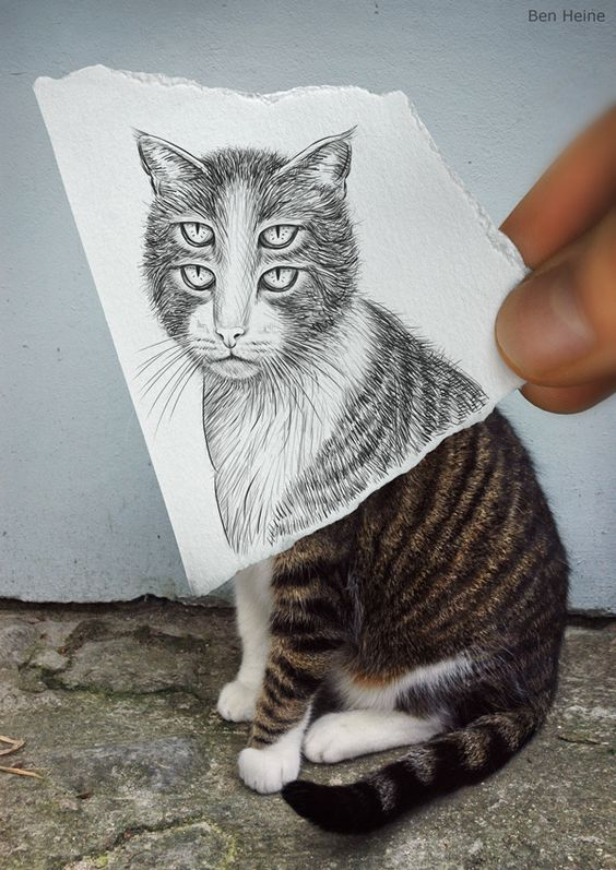 Amazingly Creative Drawing Vs Photography by Ben Heine