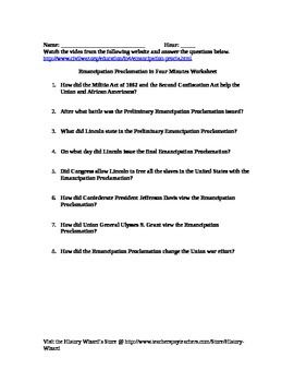 Printables Gettysburg Address Worksheet civil war gettysburg address in 4 minutes video worksheet this allows students learn about the emancipation proclamation clip is only