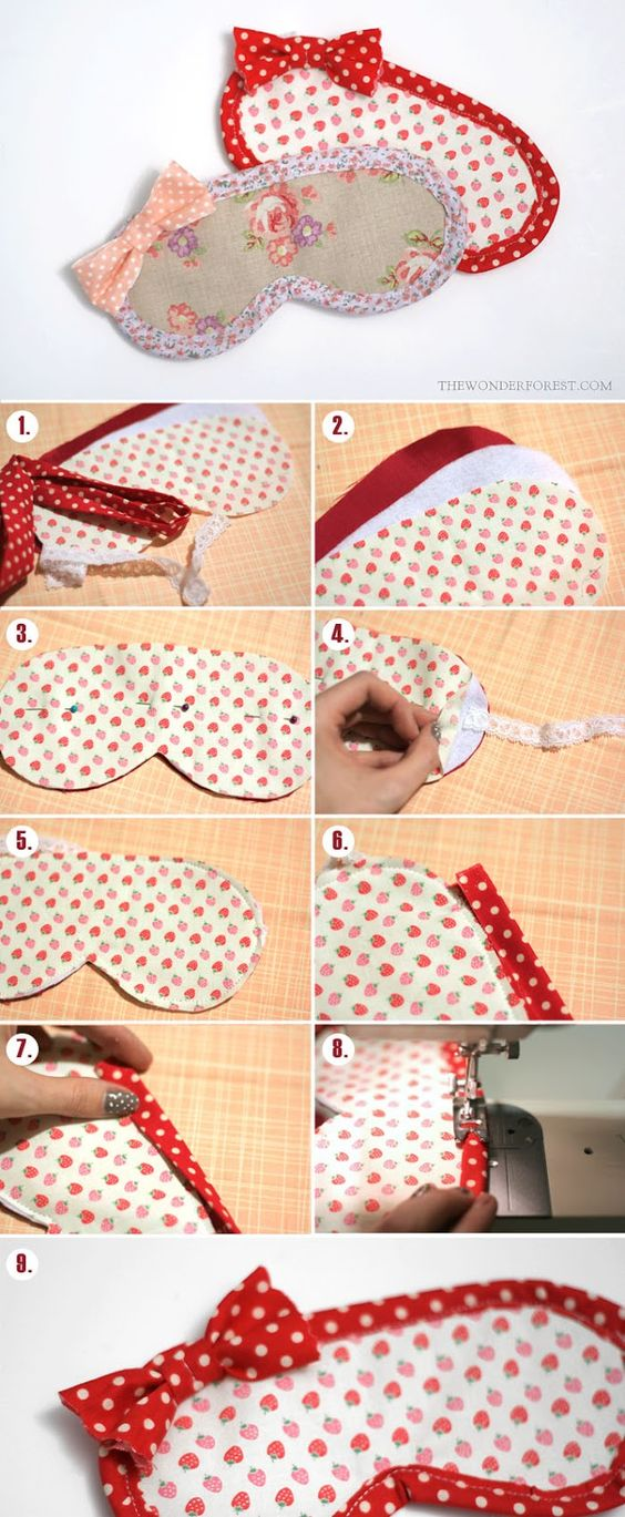 Easy Eye Mask Tutorial that anyone can make! (with pattern):