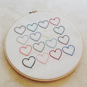 Yellow Dandy : DIY Heart Embroidery Wall Hanging