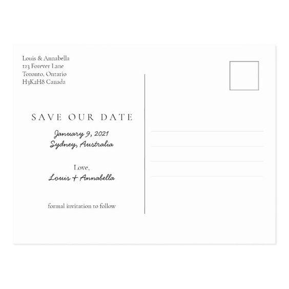Pencil Us In Save The Date January 2021 Calendar Postcard Zazzle Com In 2020 Modern Calendar Personalised Calendar Postcard