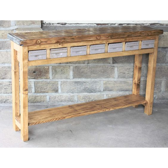Reclaimed pine console table | Antique Shop Fittings | Andy Thornton