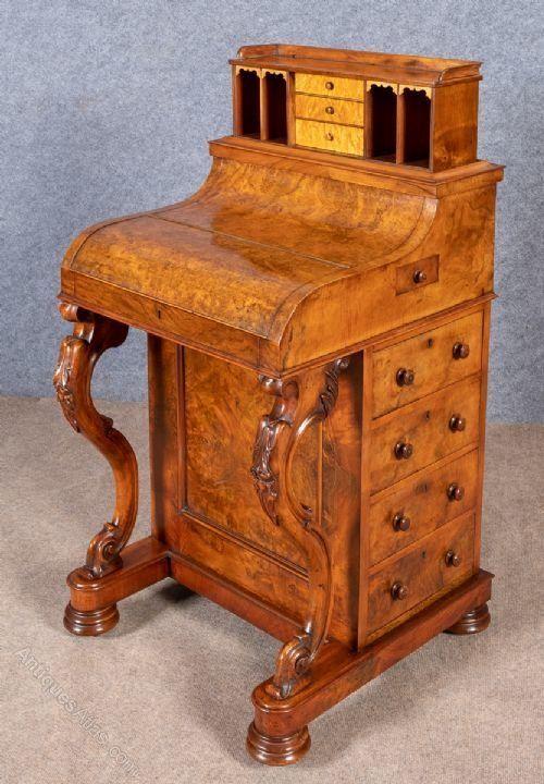 Victorian Burr Walnut Pop Up Davenport Antiques Atlas Buyinglist Selling Antique Furniture Davenport Furniture
