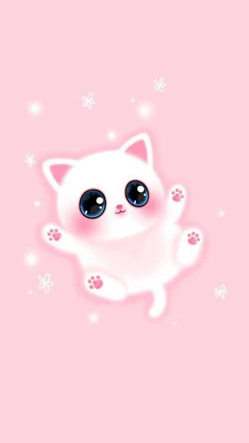 Beau Chat Iphone Fond D Ecran Rose Melody Girly In 2020 Wallpaper Iphone Cute Cute Wallpapers Pink Wallpaper Iphone