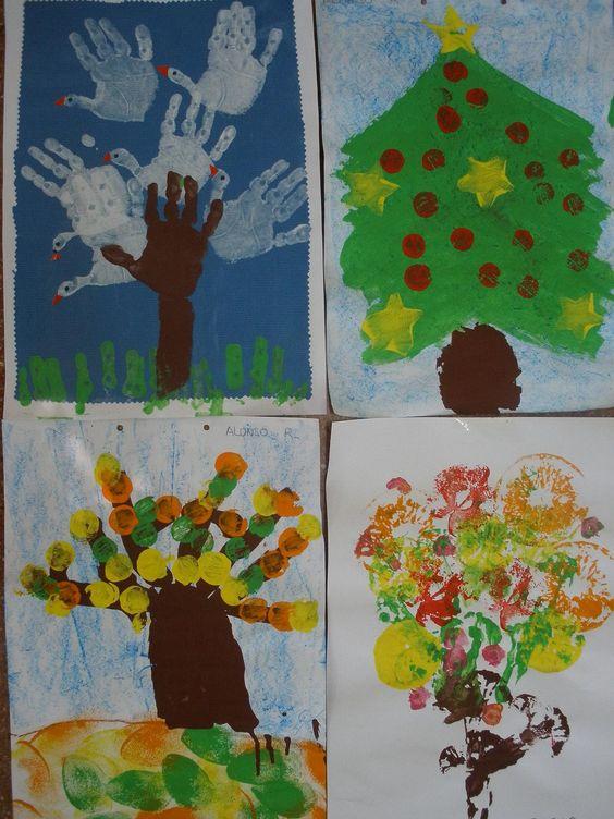 Collage de diferentes árboles.
