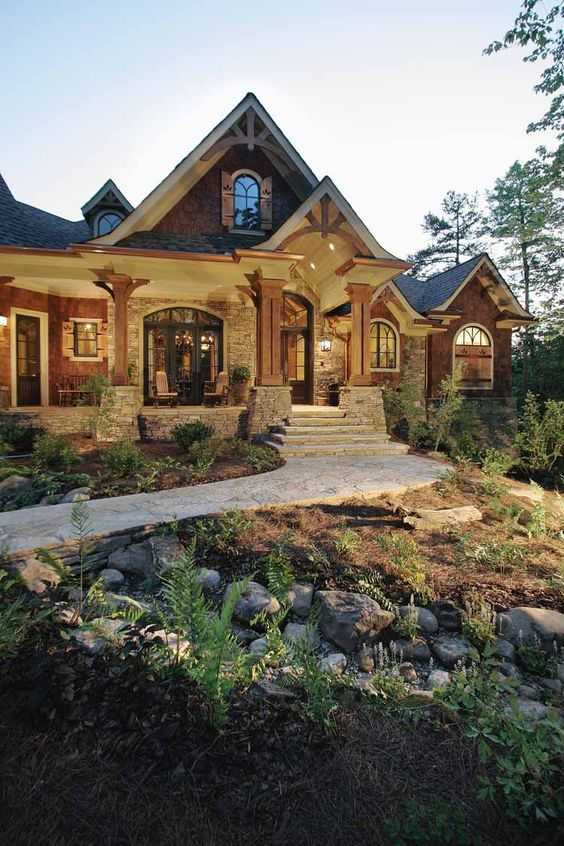 Beautiful craftsman and front porches on pinterest for Dream house website