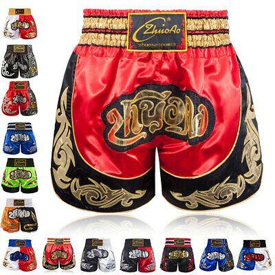 New Red MMA Shorts Muay Thai Boxing Short Pants Fighting Kick Men Fight Sport