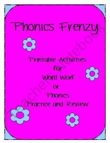 Phonics Frenzy Packet product from The-Subtle-Sub on TeachersNotebook.com