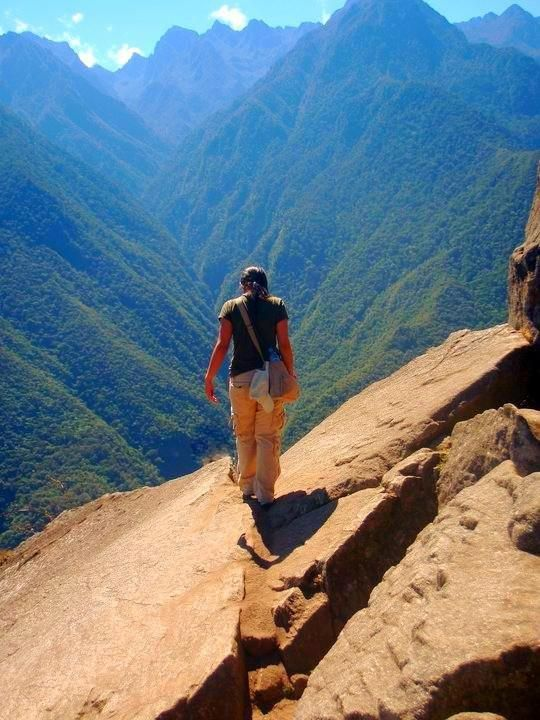 """You'll never know how far you can go until you climb!    """"At peace in Machu Picchu"""" -Cristy Delgado, FL"""