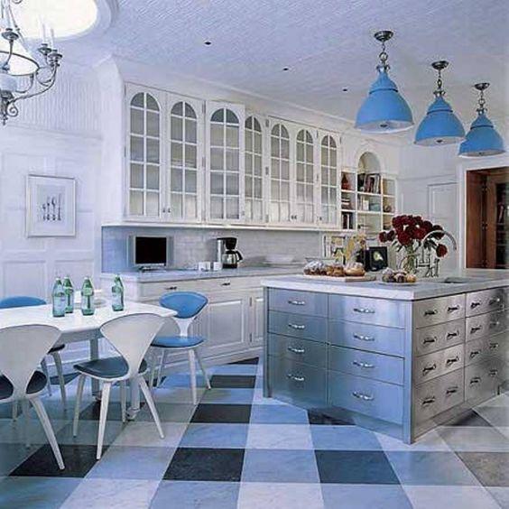 Shades Of Blue Pendant Lights For Kitchen. #Pendantlight #Lighting http://