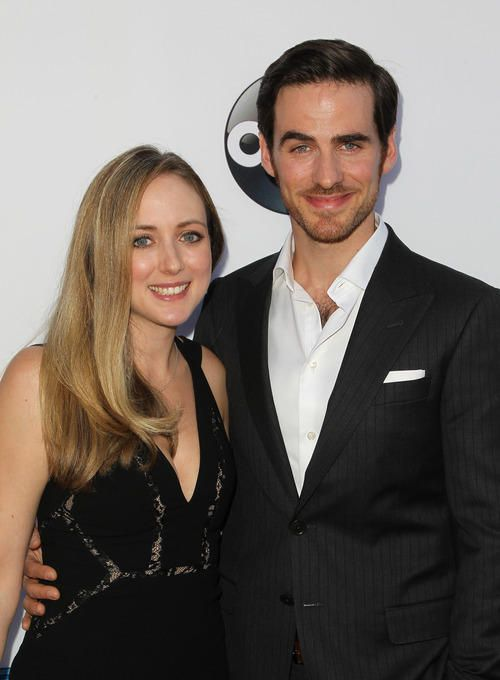 Colin O'Donoghue with his wife Helen