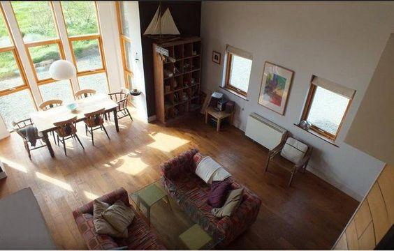 Indoor open plan bay window idea - looking down