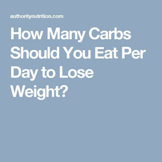 How Many Carbs Should You Eat Per Day to Lose Weight? | To lose ...
