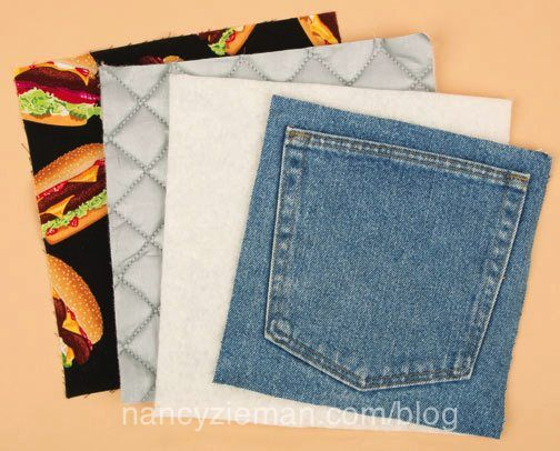 Denim Pocket Pot Holders and Mitts a Cute Quick UpCycle project to use or give as gifts!!!
