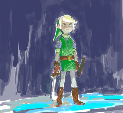 just low-quality art: old pchat of some wind waker by Manda
