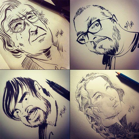 O incrível traço do ilustrador César Moreno