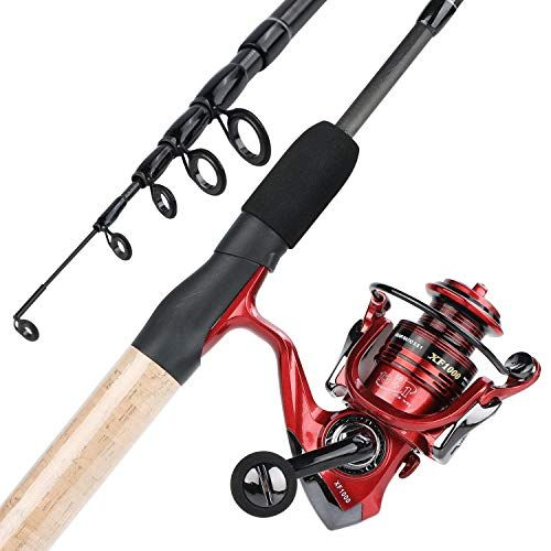 Yongzhi Fishing Rod And Reel Combos 2 Piece Carbon Fiber Protable Fishing Poles With Spinning Reels For Bass T Fishing Rods And Reels Rod And Reel Fishing Pole