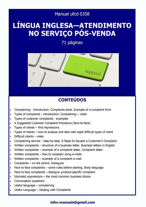ufcd 0358. Língua inglesa no serviço pós-venda