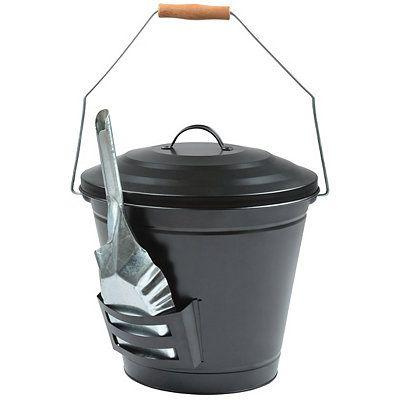 Oval Ash Bucket With Shovel Shovel Bucket Natural Wood