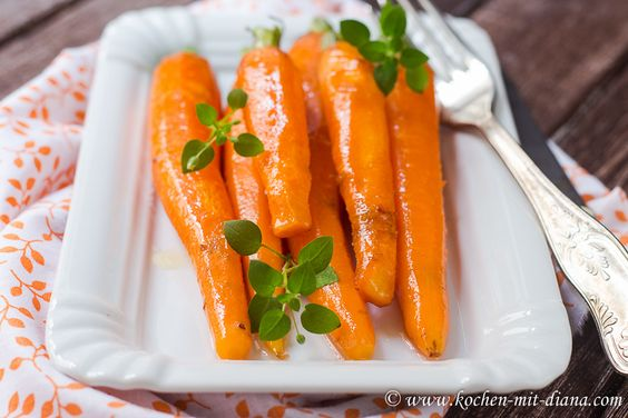 Kochen mit Diana/ Cooking with Diana: Glasierte Möhren/ Glazed carrots