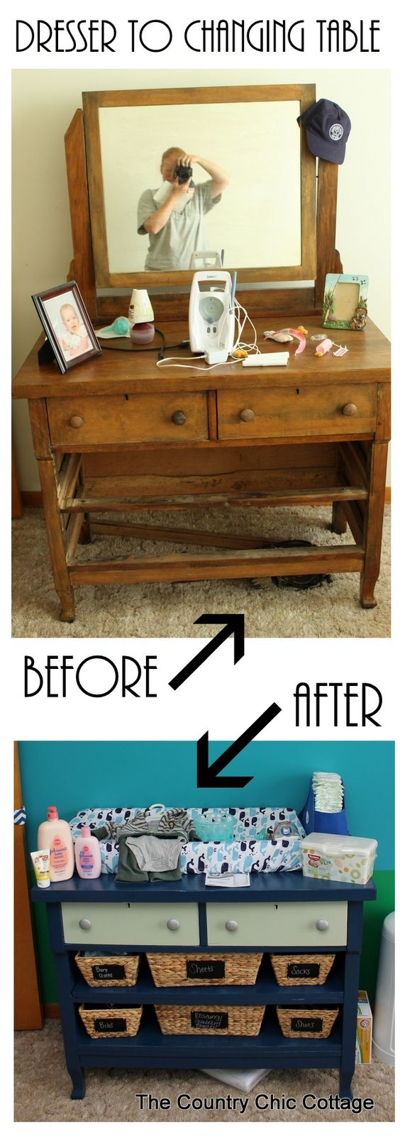 Turn A Dresser Into A Changing Table And More Ideas In