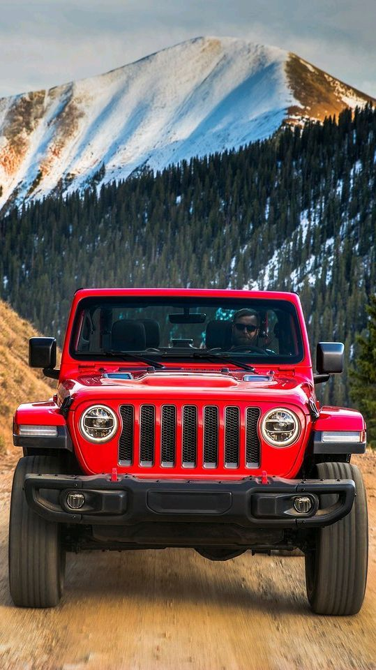 Jeep Wrangler Red Offroad Iphone Wallpaper In 2020 Jeep Wrangler