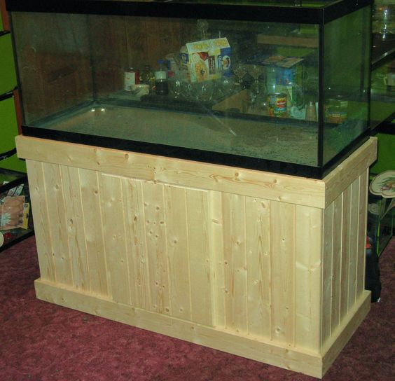 Wood working fish tank stand and fish tanks on pinterest for Fish tank wood