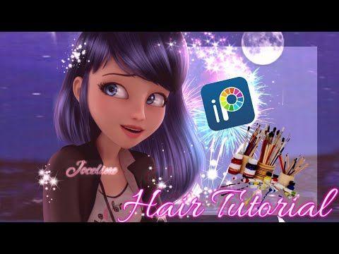 Tutorial Hair In Ibis Paint X By Joceline Youtube Painting Miraculous Characters Art Tutorials