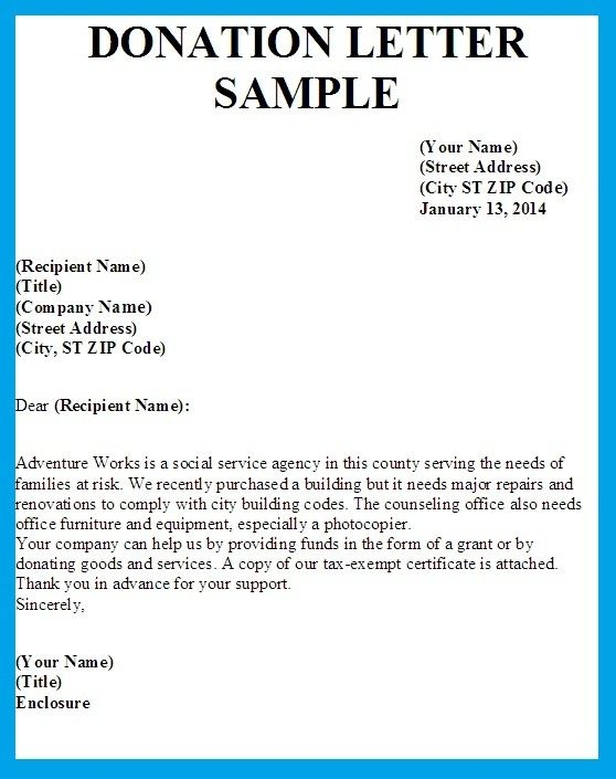 Donation Letter Example Donation Letter Template Donation Request Letters Donation Letter