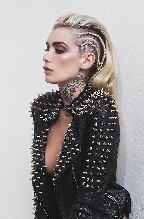 Spikes, leather and tattoos.