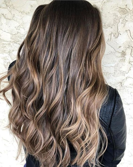 Brown chocolate hair color with highlights