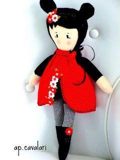 A doll called Anita would be a welcome addition to any little girls playtime. www.facebook.com/... bonecas de tecido feita por ana paula cavala  bonecas de pano chamada Anita,  feita por  Ana Paula Cavalari www.facebook.com/apcavalari  lady bug