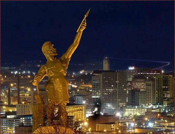 Vulcan watching over  Birmingham, Alabama