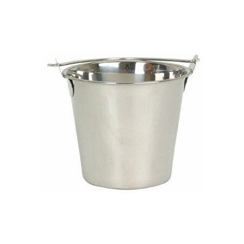 Restaurant Bucket Pail Bar Wait Station Swing Handle Utility Stainless Steel