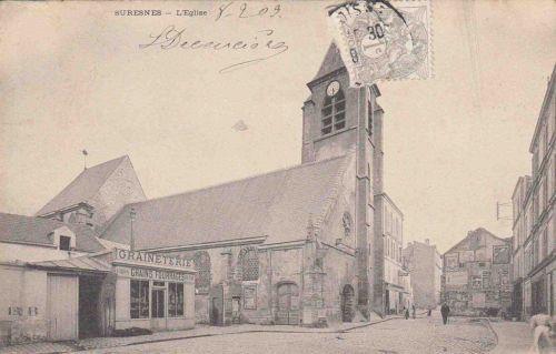 92-SURESNES l'eglise 1909